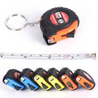 2pcs Retractable Ruler Tape Measure Key Chain Mini Pocket Size 1m Measure ToolJO