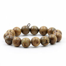 Green Sandalwood Buddha Word Tibet Buddhist Prayer Beads Mala Bracelet