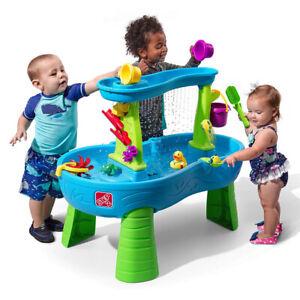 Step2 Rain Showers Splash Pond Water Table Kids Water Play Table