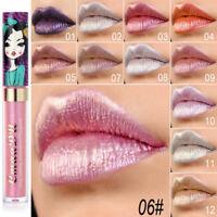 Waterproof Metallic Glitter Shiny Liquid Lipstick Makeup Lip Gloss Long Lasting