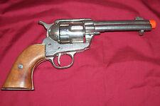 Old BKA 98 SAA .45 Prop Gun Pistol Single Action Army Cowboy Western Nickel Look