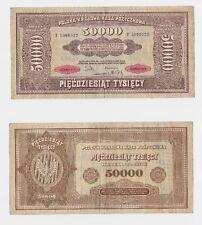 50000 Mark Marek Polskich Banknote Polen 1922 (118497)