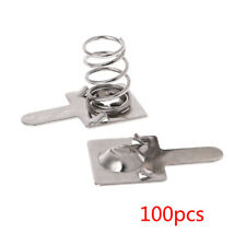 100 Pcs Metal Battery Spring Plate Set for AA AAA Positive Negative Contact New