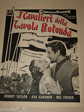 *6=KNIGHTS OF THE ROUND TABLE FILM=ADVERTISING=AVA GARDNER=ROBERT TAYLOR=