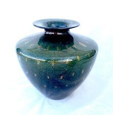 Vintage Murano Glass Vase, Bullicante/Bubbles & Copper Aventurine - Italy
