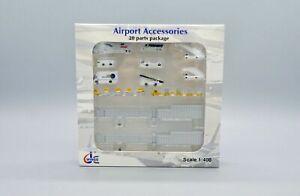 1:400 JC Wings Airport Accessories 20pcs Ground Service Equipment Set JCGSESETA