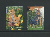 AUSTRALIA 1996 Pets Self Adhesive 'Booklet Stamp' Set Mint (SG 1652-1653)