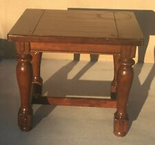"""New listing 23"""" Tall Solid Strong Heavy Oak Wood Center/Corner Table C1 Pick Up Only"""