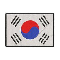 SOUTH KOREA FLAG embroidered iron-on PATCH KOREAN REPUBLIC SEOUL Taegeukgi NEW