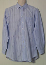 JoS A BANK Travelers 15 1/2-33 Striped Tailored Fit L Sleeve Dress Shirt