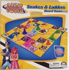 RARE Lazy Town - Snakes & Ladders Board Game. 2008. 100% Complete.
