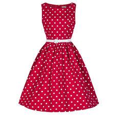 Damen Vintage 50er Jahre Rockabilly Kleid Petticoat Ballkleider Abendkleid Party