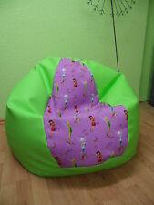 Sitzsack XL von Lux ca 350 Liter Disney Tinker Bell Lederimitat apfelgrün Disney