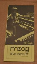Moog Retail Price List vintage catalog booklet brochure.From 1976. Keith Emerson