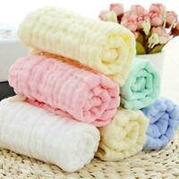 Baby Baumwolle Gaze Handtuch Waschlappen Taschentücher Fütterung D5O9 Speic V9H7