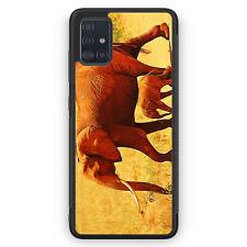 Elefant Familie Silikon Hülle für Samsung Galaxy A51 Motiv Design Tiere Schön...