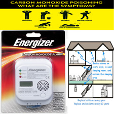 Carbon Monoxide Alarm Energizer Digital Display CO Detector 7 Year Life EN 50291