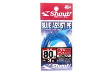 Shout 426-AP Blue Assist P.E Line Assist Rope with Inner Core 3 meters 80LB
