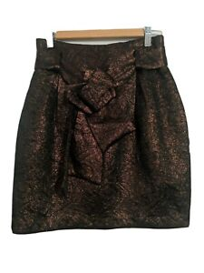 Cue Made In Australia Skirt Size 6 black with copper