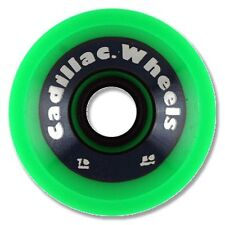Cadillac CRUZERS Skateboard Wheels 70mm 80a GREEN w/SILVER TEXT