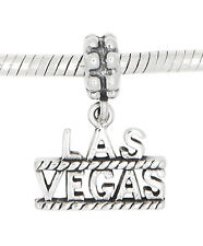 STERLING SILVER LAS VEGAS TRAVEL  DANGLE BEAD CHARM