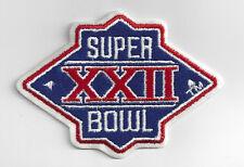 1987 Super Bowl XXII patch Washington Redskins Denver Broncos SB 22 John Elway