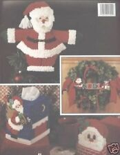 A Jolly Christmas In Plastic Canvas Cross Stitch Chart Pattern