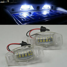 2x LED LICENSE PLATE LIGHT For Acura TL TSX MDX Honda Civic Accord Odyssey Pilot