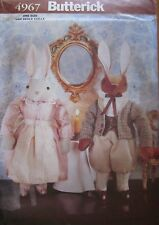 "4967 Butterick SEWING Pattern Craft Home Decor Decorative 12"" Rabbits UNCUT"