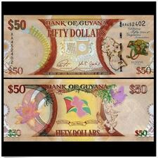 Guyana 50 Dollars 2016 50th Commemorative (UNC) 圭亚那 50元 独立50年纪念钞 (SOLD)
