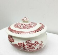 Spode PINK TOWER Covered Sugar Bowl England Fine China Serving Piece