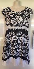 NWT TEMT Black & White Shift Dress Size 14