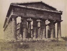 Paestum Pesto Temple de Neptune Italie Italia Vintage albumine ca 1880