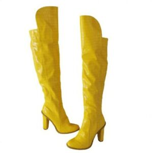 36/47 Women Round Toe Block Heel Party Over The Thigh High Boots Outdoor Party L