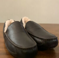 UGG ASCOT 5379 MEN'S SLIPPERS CHINA TEA LEATHER SIZE 15, NEW, (EXCLUSIVE STYLE)