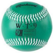 9 oz Ounce Weighted Strength TRAINING Ball Pitcher Pitching BASEBALL Green