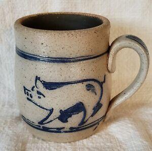 Rowe Pottery Works  Pig Mug Cambridge Wis. 1985