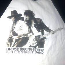 mens Bruce Springsteen E Street Band 3//4 Sleeve 100/% Cotton Raglan baseball Tee shirt S Red