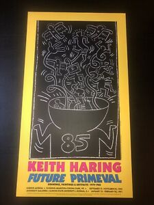 Keith Haring Future Primeval Lithograph Vintage