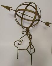 Large Metal Garden Sphere with Arrow and Stand Garden Yard Decor Armillary