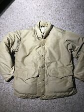 Vintage Woolrich Men's work Coat beige size Large insulated goose down