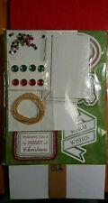 Create And Craft Christmas Card Kit 40 A5 Cards And Envelopes & Tag/topper Kit