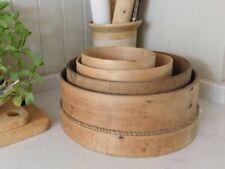 Set of vintage wooden sieves