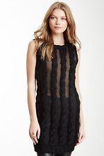NWT Shae NY Sheer Knit Dress Black S/P  MSRP $254