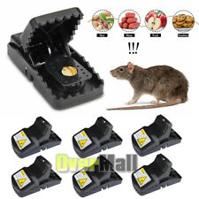 Pest Control Rat Traps Professional Multi Captsure Set of 6 Large Snap Trap Best