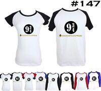 9 3/4 Harry Potter Hogwarts Express Couple T-Shirt Men's Womens Graphic Tee Tops