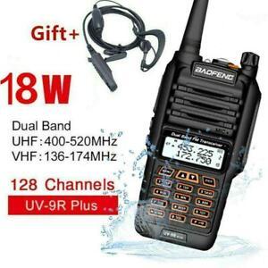 BAOFENG UV-9R PLUS WALKIE TALKIE 18W 128CH VHF UHF DUAL BAND ZWEI WEGE RADIO NEU