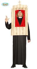Costume vestito Prete con confessionale adulto Carnevale Halloween g84421