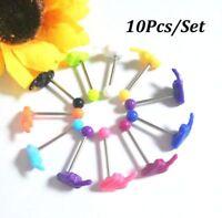 10Pcs Multi Tongue Body Piercing Jewelry Tounge Nipple Ear Ring Bar Barbell