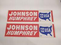 2 JOHNSON HUMPHREY for the USA  President Lyndon B Johnson LBJ Hubert Humphrey